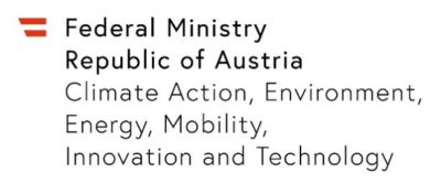 Federal Ministry for Climate Action, Environment, Energy, Mobility, Innovation and Technology/ Bundesministerium für Klimaschutz, Umwelt, Energie, Mobilität, Innovation und Technologie